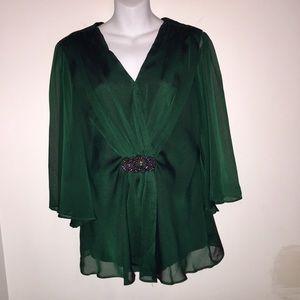 Collection Dress Barn Emerald Green Blouse